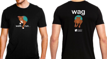 2017 Walk Run Wag Fundraising T-shirt